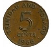 Тринидад и Тобаго 5 центов 1966-1972