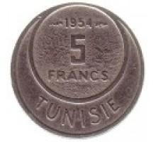 Тунис 5 франков 1954-1957