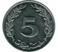 Тунис 5 миллимов 1997-2005