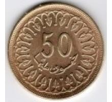 Тунис 50 миллимов 1960-2009