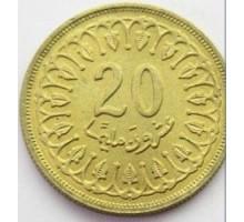 Тунис 20 миллимов 1960 - 2005