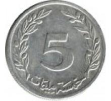 Тунис 5 миллимов 1960-1996