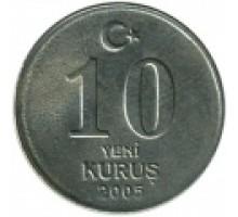 Турция 10 новых курушей 2005-2008
