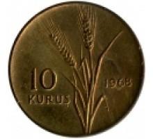 Турция 10 курушей 1958-1968
