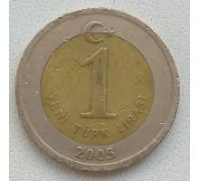 Турция 1 новая лира 2005-2008