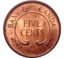 Уганда 5 центов 1966-1975