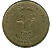 Уганда 500 шиллингов 1998-2019