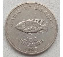 Уганда 200 шиллингов 1998-2008