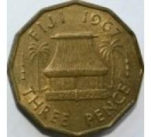 Фиджи 3 пенса 1955-1967