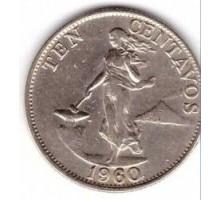 Филиппины 10 сентаво 1958-1966
