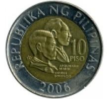 Филиппины 10 писо 2000-2013