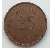 Финляндия 25 пенни 1941