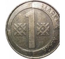 Финляндия 1 марка 1993 - 2001