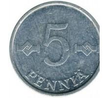 Финляндия 5пенни1977-1990