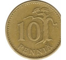 Финляндия 10пенни1963-1982