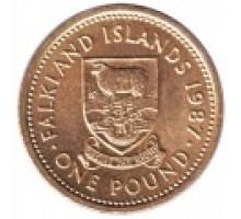 Фолклендские острова 1 фунт 1987-2000