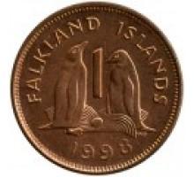 Фолклендские острова 1 пенни 1998-1999