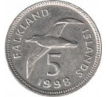 Фолклендские острова 5 пенсов 1998-1999