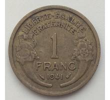 Франция 1 франк 1941