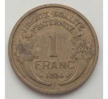 Франция 1 франк 1934
