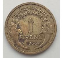 Франция 1 франк 1936