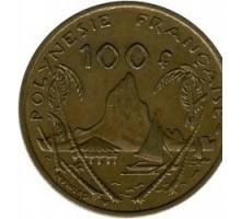 Французская Полинезия 100 франков 1976-2005