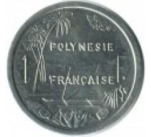 Французская Полинезия 1 франк 1975-2017