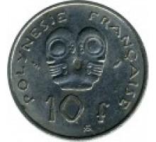 Французская Полинезия 10 франков 1972-2005