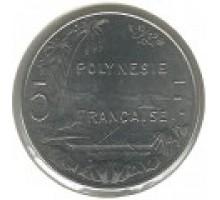 Французская Полинезия 5 франков 1975-2017