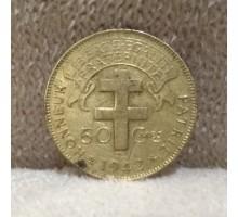 Французская Экваториальная Африка 50 сантимов 1942
