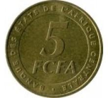 Центральная Африка 5 франков 2006