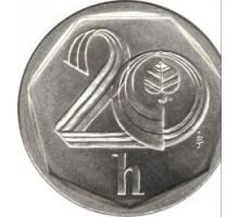 Чехия 20 геллеров 1993-2003
