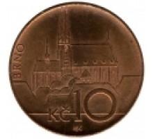 Чехия 10 крон 1993-2017