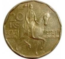 Чехия 20 крон 1993-2017