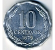 Чили 10 сентаво 1976-1979
