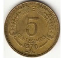 Чили 5 сентесимо 1960-1971