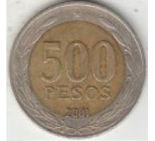 Чили 500 песо 2000-2016