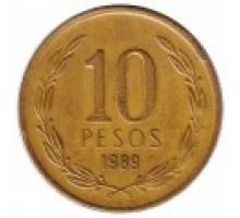 Чили 10 песо 1981-1990