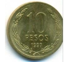 Чили 10 песо 1990-2016