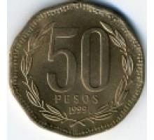 Чили 50 песо 1988-2016