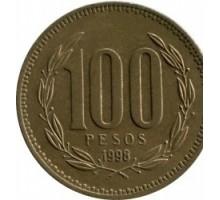 Чили 100 песо 1989-2000
