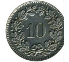 Швейцария 10 раппен 1917-1967