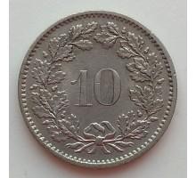 Швейцария 10 раппен 1968-2017