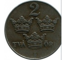 Швеция 2 эре 1945