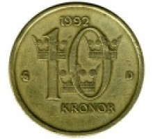 Швеция 10 крон 1991-2000