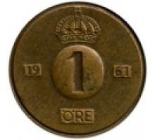 Швеция 1 эре 1952-1971