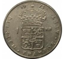 Швеция 1 крона 1968-1973