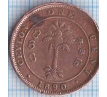 Цейлон 1 цент 1890