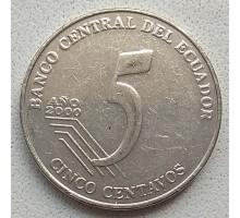 Эквадор 5 сентаво 2000-2003