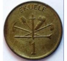 Экваториальная Гвинея 1 экуэле 1975
